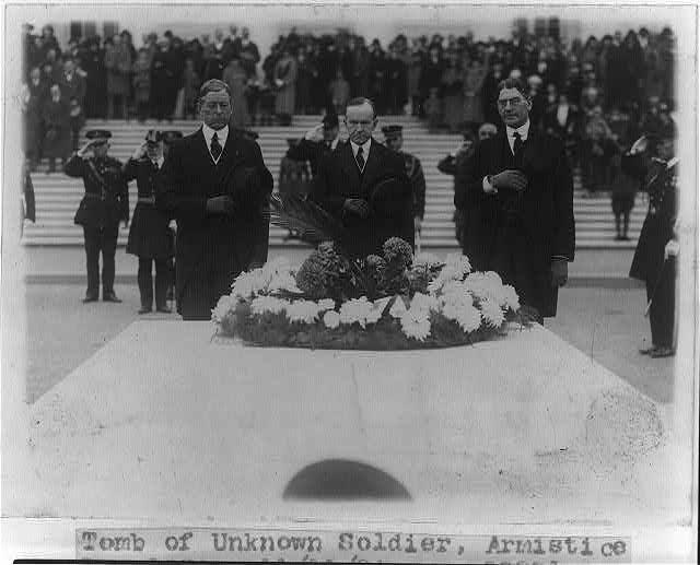 Tomb of Unknown Soldier, Armistice Day, 1924