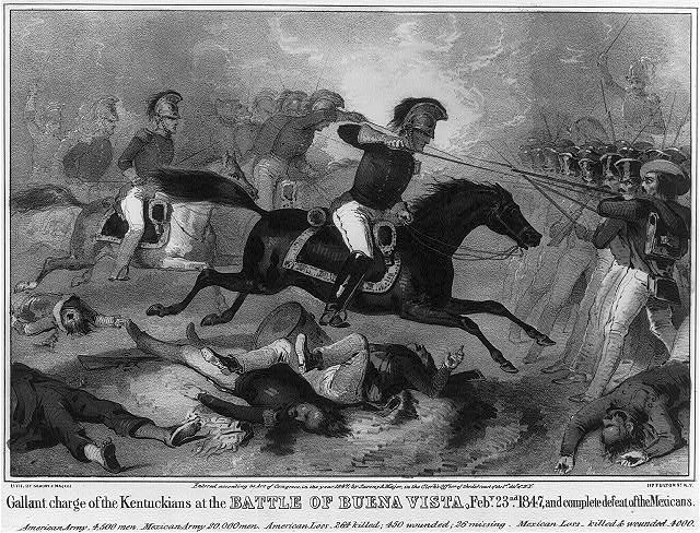 Gallant charge of the Kentuckians at the Battle of Buena Vista, Feby. 23nd 1847, and complete defeat of the Mexicans