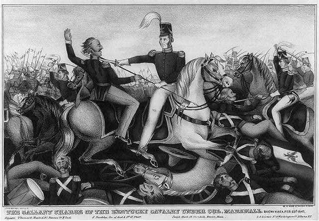 The gallant charge of the Kentucky Calvary under Col. Marshall
