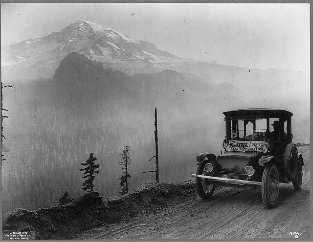 [The Detroit Electric going from Seattle to Mt. Rainier]