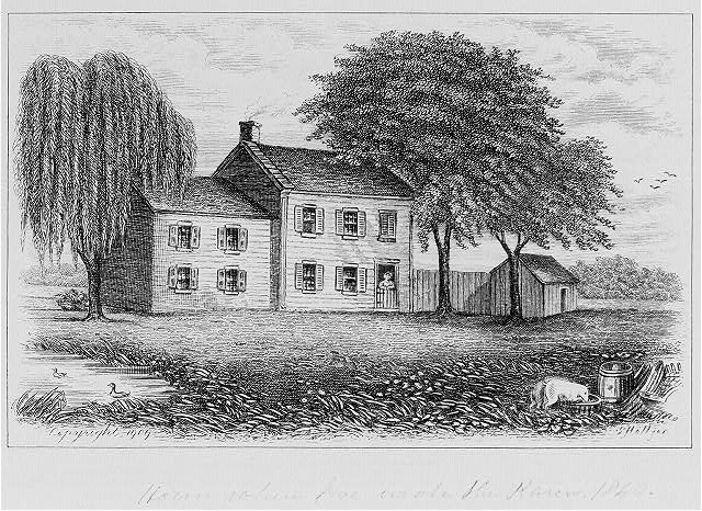 House where Poe wrote The Raven, 1840