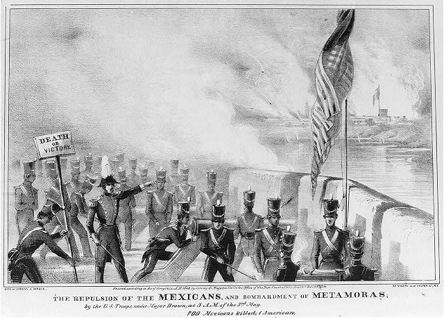 The repulsion of the Mexicans, and bombardment of metamoras; by the U.S. troops, under Major Brown; at 5 a.m. of the 3rd May