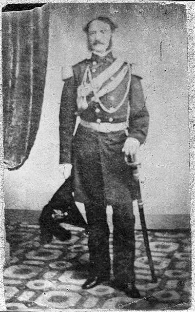 [John Bankhead Magruder, 1810-1871, full length, standing, facing left; in dress uniform, C.S.A.]