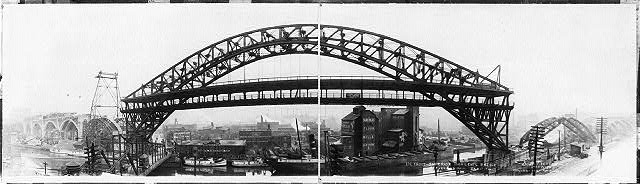 Detroit-Superior high level bridge, Cleveland, Ohio, Feb. 17, 1916