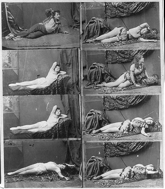[Adah Isaacs Menken, 1835-1868, in 8 seductive reclining poses]