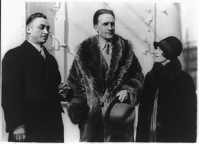 [Leon Hartt, Marcel Duchamp, and Mrs. Hartt; half length, standing]