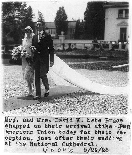 Mr. & Mrs. David K. Este Bruce just after their wedding at the National Cahtedral