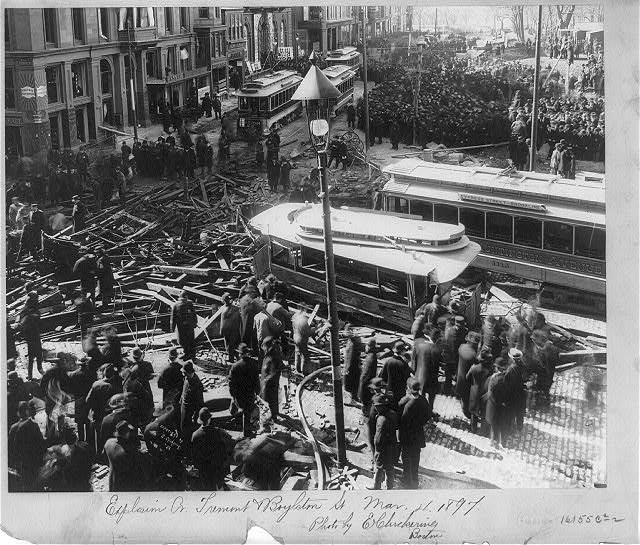 Explosion at Tremont & Boylston St., [Boston], Mar. 4, 1897