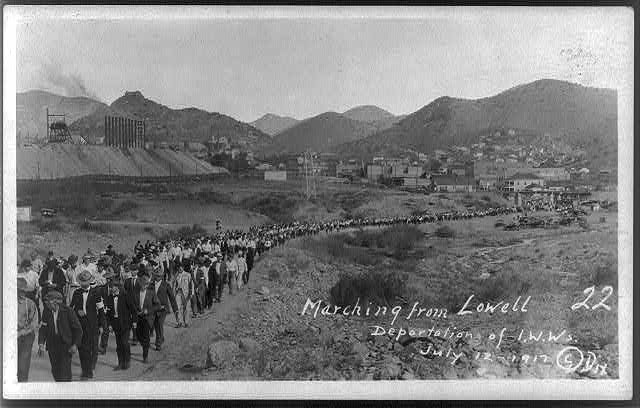 Marching from Lowell [Ariz.] Deportation of I.W.W.'s July 12, 1917