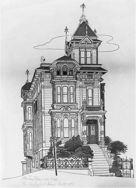 Old San Francisco 1946, The Westerfeld House--built 1889