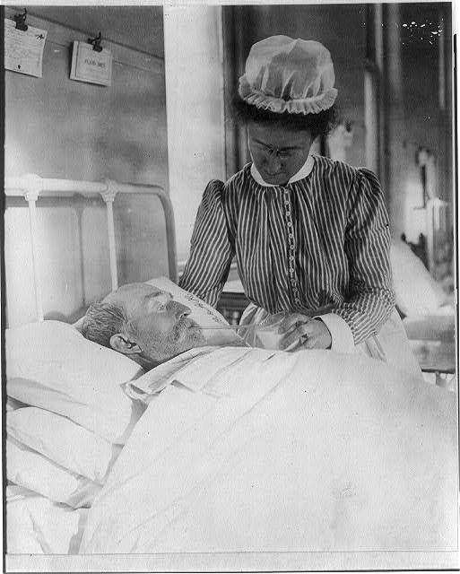 [Nurse caring for elderly patient]
