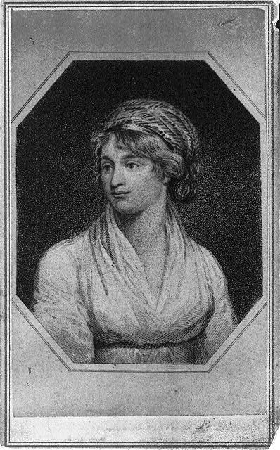 [Mary Wollstonecraft, half-length portrait, facing left]