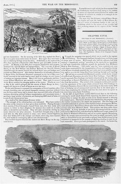 The advance on Port Gibson Attack on Grand Gulf.