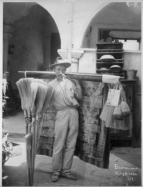 Broom and rug peddler, Cuba