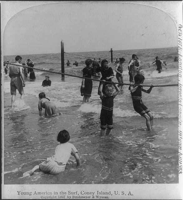 Young America in the surf, Coney Island