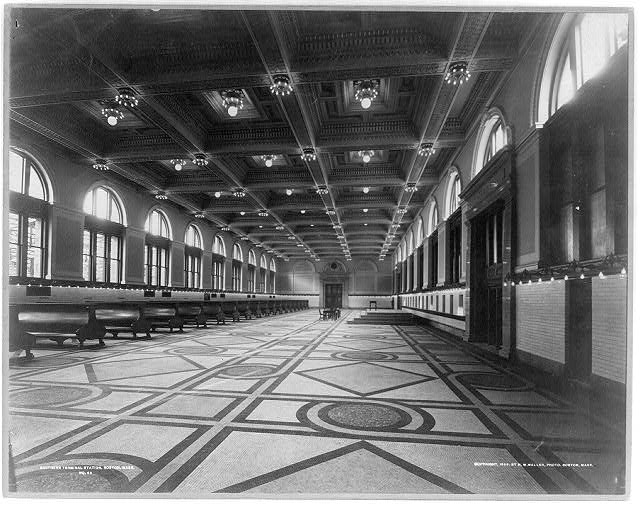 Interior of main waiting room, Southern Terminal Station, Boston, Mass.