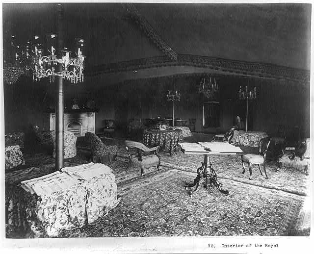 Interior of the royal drawing-room tent