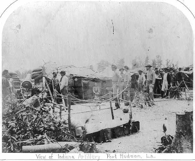 [View of Indiana artillery, Port Hudson, LA]