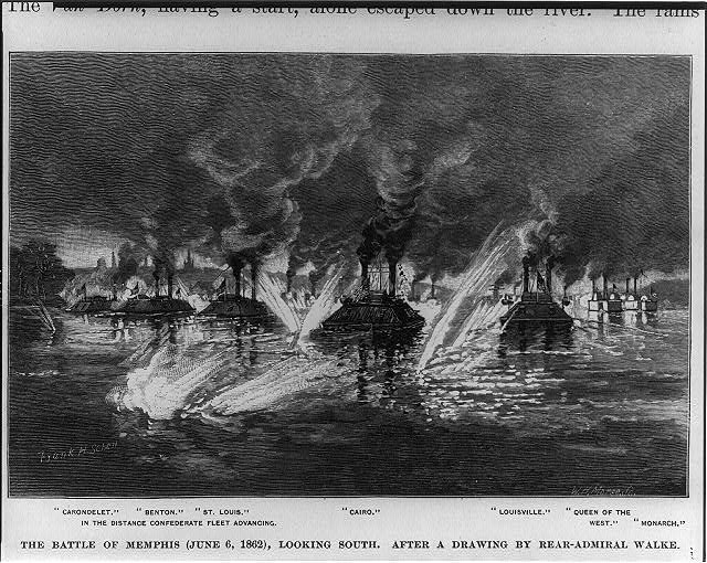 The Battle of Memphis (June 6, 1862), looking south