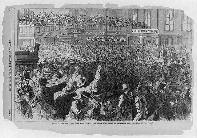 Scene in the New York Gold room during the excitement of September 24th, 1869