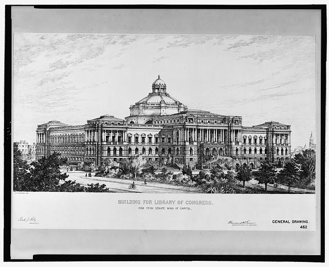 [Library of Congress, Washington, D.C. View from Senate wing of Capitol]