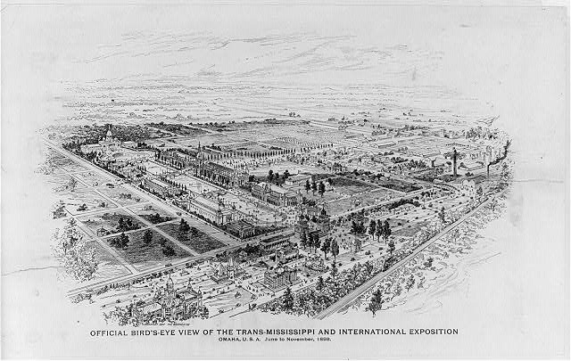 Official bird's-eye view of the Trans-Mississippi and International Exposition, Omaha, U.S.A., June to November, 1898