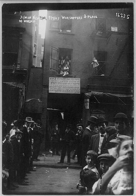 Jewish life - worshippers and converted synogogue, Jewish New Year, New York