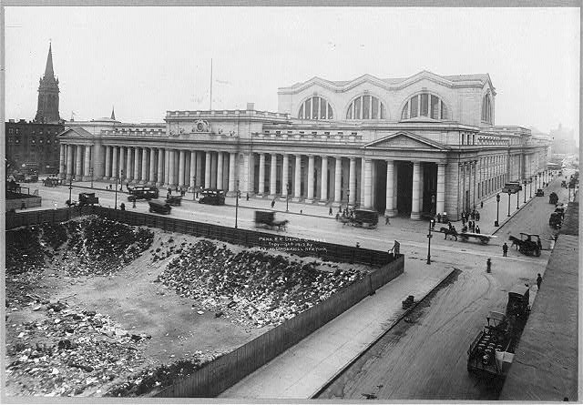 [Pennsylvania Railroad Station, New York City, from 6th Ave.]