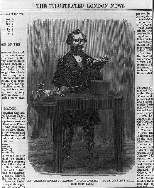 "Mr. Charles Dickens reading ""Little Dombey,"" at St. Martin's Hall"