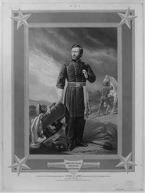 Facsimile of the celebrated antrobus portait of General U.S. Grant, painted on the battlefield of Chattanooga 1863-4