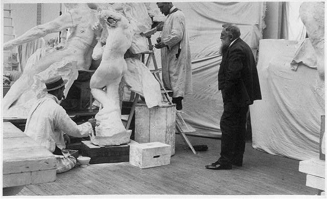 Rodin in his Paris studio, 1905