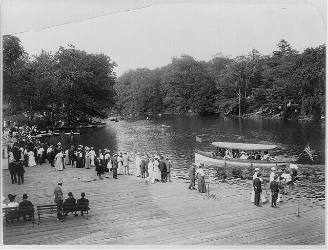Bronx Lake from New York Zoological Park, 183 D. St. and Southern Blvd., New York City: Boat landing