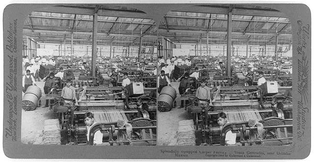 Splendidly equipped carpet factory, Santa Gertrudes, near Orizaba, Mexico