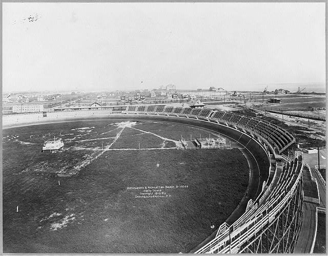 [New York City - bird's-eye view: Motordrome and Manhattan Beach, [Brooklyn] Coney Island]