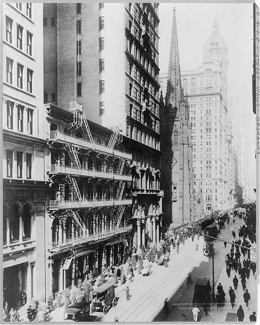 [New York City: American Express Bldg. & Broadway north]
