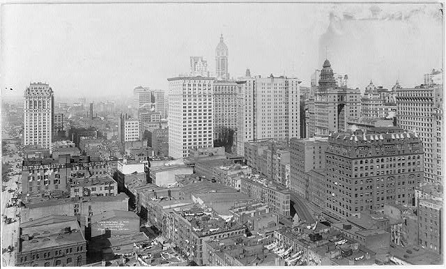 [New York City: Lower New York, north from Whitehall Bldg. - bird's-eye view]