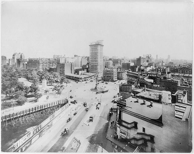 Columbus Circle and Central Park, looking south