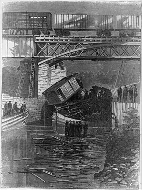 The great railway disaster near Montreal, Canada