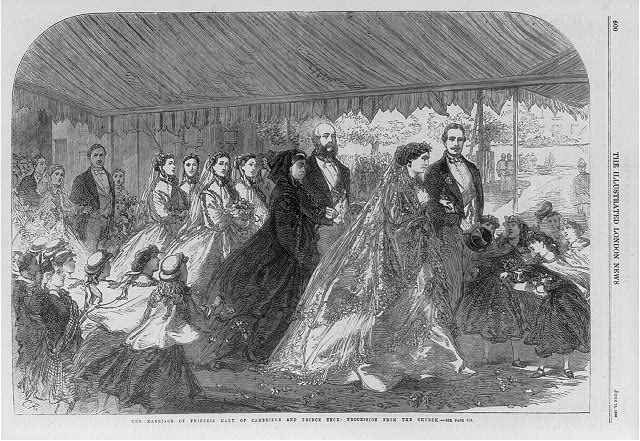 The marriage of Princess Mary of Cambridge and Prince Teck - the procession from the church