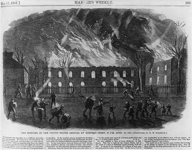 The burning of the U.S. Arsenal at Harper's Ferry, 10 P.M., April 18, 1861