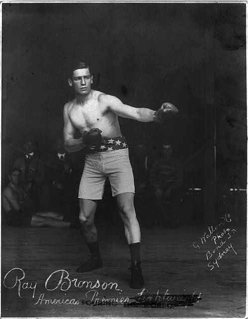 Ray Bronson, America's premier lightweight, touring the world