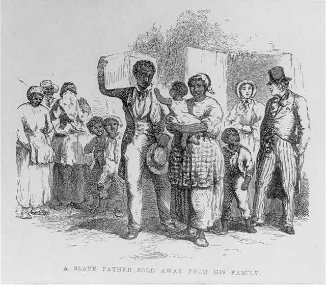 A slave father sold away from his family