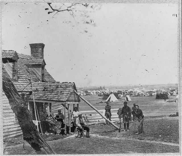 Gen. Porters headquarters camp in front of Yorktown, Va.