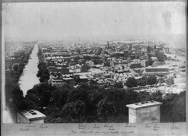 View, looking N.W. from roof of Capitol