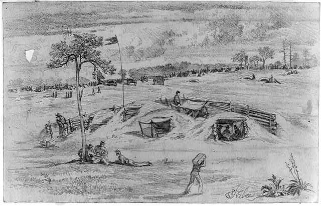 The battle of Cold Harbor (Bomb proofs)