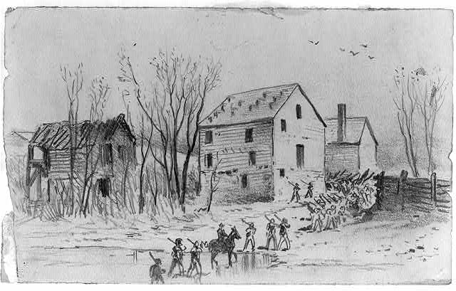 The Army of the Potomac crossing Broad Run. Retreat from Culpepper [sic]