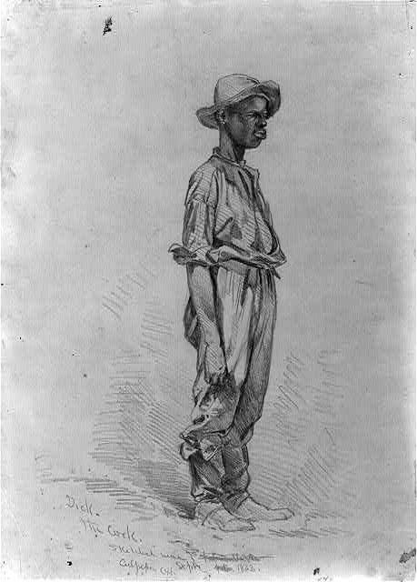 Dick, the cook, sketched near Culpeper C[ourt] H[ouse]