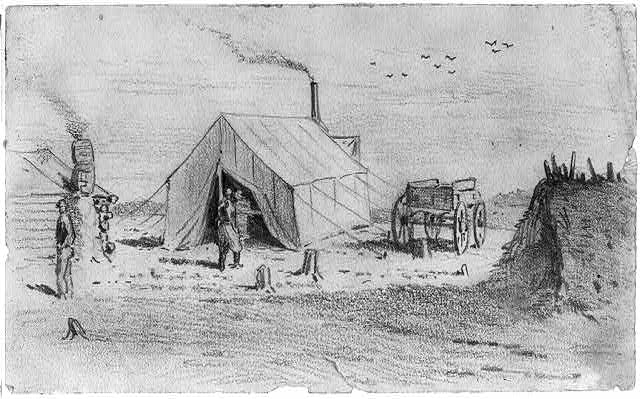 The sutler's tent in camp