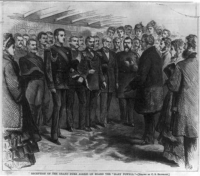Reception of the Grand Duke Alexis on board the MARY POWELL [NewYork City]