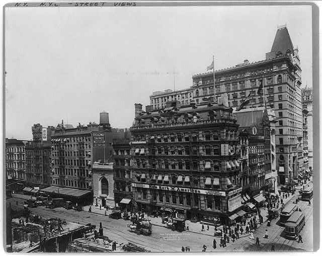 Park Place and Broadway, N.W. corner, New York City